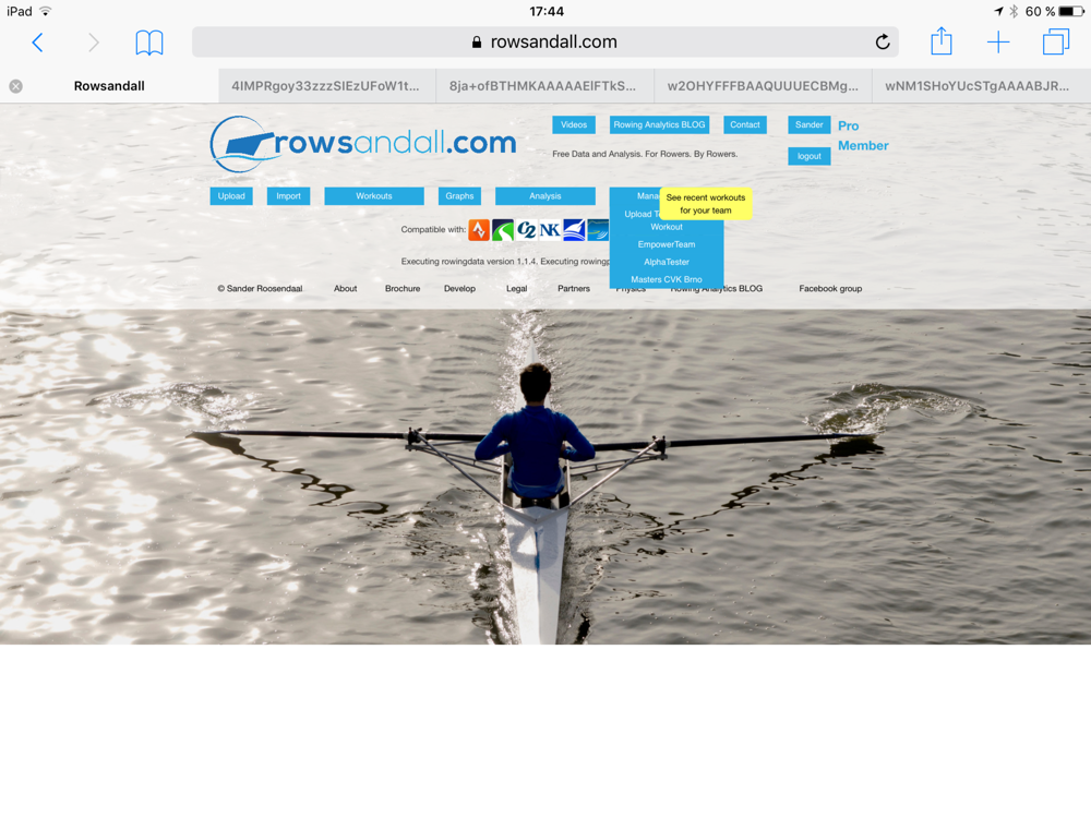 We are launching rowsandall.com for rowing coaches and teams. With a free trial month. No obligations. Try out data driven rowing!
